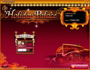 ให้ Click ที่ภาพ Baccarat เพื่อเข้าเล่นคาสิโน Holiday Palace